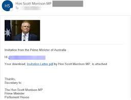 Fake Scott Morrison email phishing scam ...