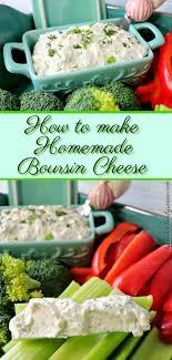 homemade boursin cheese spread recipe
