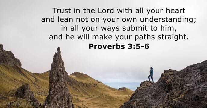 Image result for Proverbs 3:5-6""