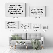 He Will Cover You With His Feathers Psalm 91 4 Bible Verse Scripture W Smile Art Design