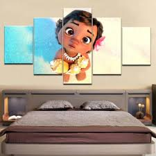 Kids Room Moana Disney 5 Panel Canvas Art Wall Decor Canvas Storm