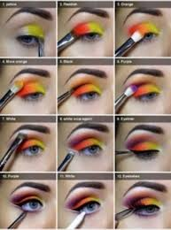easy to do colored eye makeup