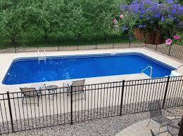 16x32 Inground Pool With Fence Google Search Fence Google Inground Search Inground Pool Landscaping Backyard Pool Landscaping Pools Backyard Inground