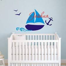 Tiptophomedecor Custom Boys Name Boat Nautical Decal Sticker Decor