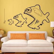 Fishing Wall Stickers For Kids Room Bedroom Wall Decor Fish Survival Art Vinyl Wall Decals Removable Home Decoration Accessories Sticker For Kids Room Fish Wall Stickerswall Stickers For Kids Aliexpress