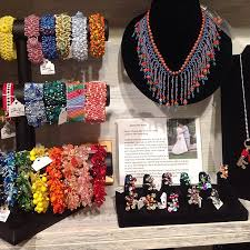 handmade jewelry in colorful hues