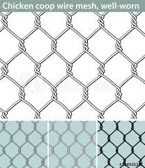 Chicken Wire Well Worn Three Different Versions Of A Seamless Pattern With A Wire Mesh For Chicken Coops Unfilled With White Filling And In Silhouette The Wire Is Deformed By Use Buy