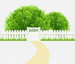 Clipping Path Path With Fence And Trees Green Leafed Bush Near Fence Illustration Text Grass Png Pngegg