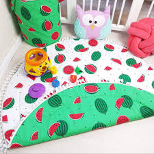 900mm Baby Infant Play Mats Kids Crawling Carpet Floor Rug Fringed Lace Watermelon Blanket Cotton Game Pad Children Room Decor Walmart Com Walmart Com