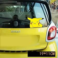 Pokemon Car Sticker Pikachu Funny Face Car Stickers Pikachu Pikachu Funny