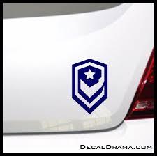 Terran Dominion Emblem Starcraft 2 Inspired Vinyl Car Laptop Decal Laptop Decal Starcraft Personalized Decals