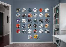 Nfl Helmet Collection Fathead Wall Decal Football Room Decor Football Themed Room Boys Bathroom Themes