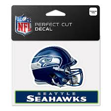 Seattle Seahawks Wincraft 4 X 5 Perfect Cut Helmet Slogan Decal
