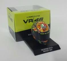 MOTO: MINICHAMPS VALENTINO ROSSI MODELLINO CASCO HELMET AGV 1/10 CAMPIONE  MOTOGP 2009 NEW