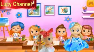 Lucy Channel | BÚP BÊ CHƠI GAME LỚP HỌC SIÊU QUẬY P1 - YouTube