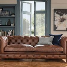 halo earle chesterfield leather sofas