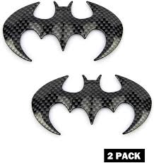 Amazon Com Black Dazzling Bat Metal Car Decal Premium Metal Automotive Decals Actual 3d Bat Logo Fuel Tank Decals No Rust Plating Metal 3d Car Label Light Waterproof Strong Self Adhesive Window Stickers