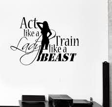 Vinyl Decal Sports Quote Motivation Bodybuilding Gym Woman Fitness Wall Stickers Unique Gift Ig2717 Sports Quotes Fun Workouts Gym Women