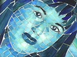 mosaic stained glass portrait
