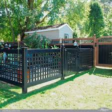 Incredible Black Pvc Vinyl Lattice Garden Fence And Gate From Illusions Vinyl Fence Gardenideas Homedecor In 2020 Black Garden Fence White Garden Fence Vinyl Fence