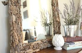 easy driftwood mirror the wood grain