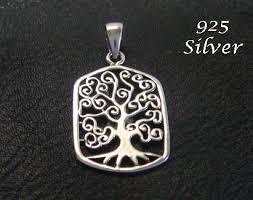 celtic tree design sterling silver
