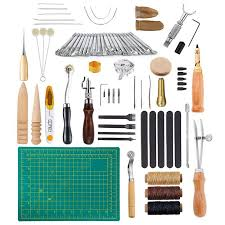 59pcs leather craft tools kit hand
