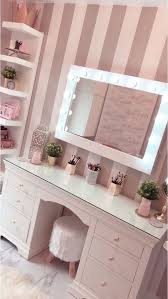 Simple Makeup Room Design With Wall Decals Homemydesign