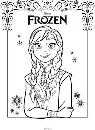dibujo de anna de la película frozen