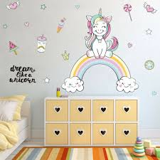Castle Rainbow Cloud Fairy Unicorn Wallpaper Border Nursery Kids Room Wall Decor For Sale Online Ebay