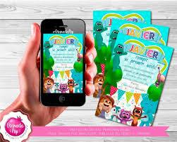 Invitacion Digital Personalizada Reino Infantil Del Zoo 2 500