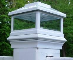 White Solar Led Post Light Cap For True 5 X 5 Posts On Bridges Fences Decks Posts Tjb Inc Online Store