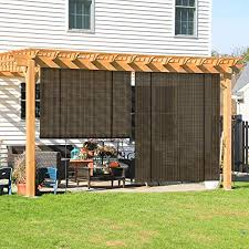 coarbor outdoor roll up shades blinds