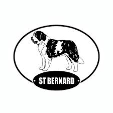 Saint Bernard Euro Vinyl Dog Car Sticker Dog Car Car Stickers Saint Bernard