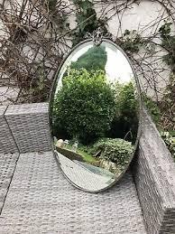 vintage art deco metal framed mirror
