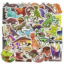 50 Pcs Dinosaur Sticker Cute Anime Decal Stickers For Children Laptop Suitcassn