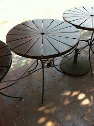 rustic wood patio table