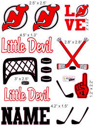New Jersey Devils Cranial Band Decoration From High Quality Vinyl