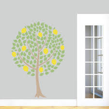 Lemon Tree Printed Wall Decals Wall Decor Stickers