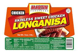skinless sweet en longanisa 16 oz