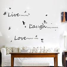 Shop Walplus Swarovski Live Laugh Love Peel And Stick Wall Sticker Home Decor Overstock 32007175