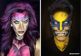 makeup artist transforms himself into