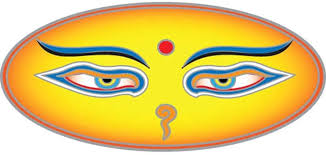 Amazon Com Buddha Eyes Window Sticker Decal 5 X 2 5 Translucent Arts Crafts Sewing