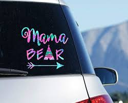 Amazon Com Mama Bear Car Decal Yeti Mom Sticker With Teepee Arrow Laptop Decal Your Choice Of Size And Pattern Handmade