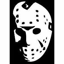 Jason Hockey Mask Face Friday The 13th 6 White Car Decal Sticker Classic Scary Ebay