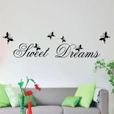 Home Garden Sweet Dream Wall Art Sticker Quote Living Room Decal Mural Decor Transfer Shan Children S Bedroom Boy Decor Decals Stickers Vinyl Art Nacionalgas Com Br