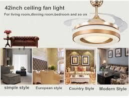 copper fans gold color invisible blades