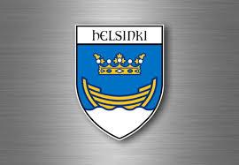 Sticker Decal Souvenir Car Coat Of Arms Shield City Flag Helsinki Finland For Sale Online Ebay