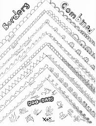 cool border designs to draw
