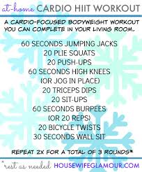 at home cardio hiit workout